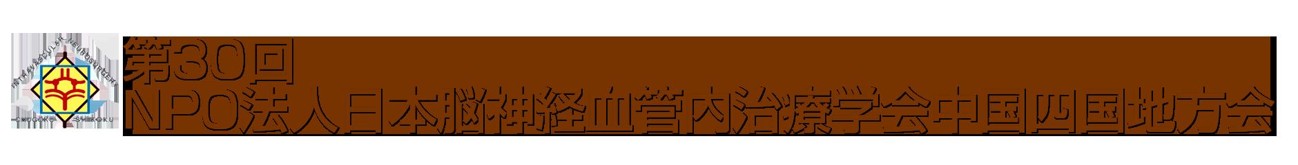 第30回NPO法人日本脳神経血管内治療学会中国四国地方会